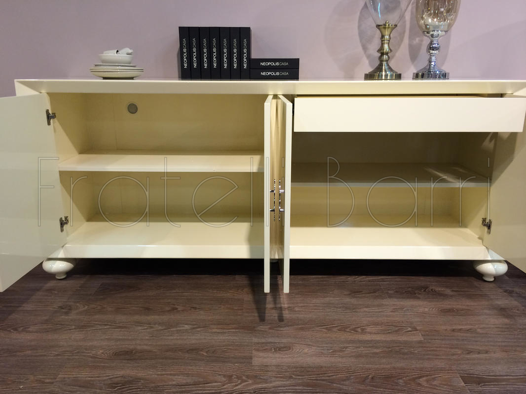 Sideboard finish beige gloss lacquer fratelli barri for Sideboard 120